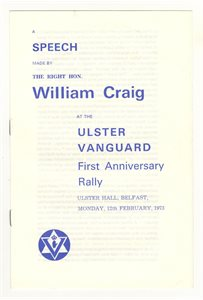 A Speech made by The Right Hon. William Craig