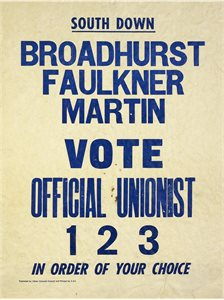 Vote Official Unionist