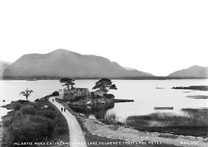 MC.ARTIE MOR'S CASTLE, AND LOWER LAKE, KILLARNEY, FROM LAKE HOTEL