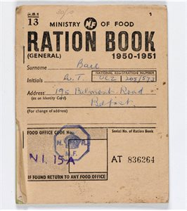 BOOK; Ration Book