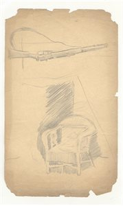 Study of Chair; Study of Rifle