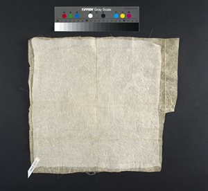 Carrickmacross lace handkerchief, partly worked