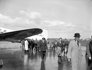 Opening of B.K.S. Air Transport Service