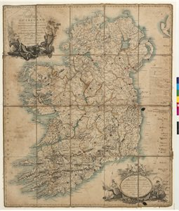 A / NEW MAP / OF IRELAND