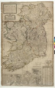 A NEW MAP OF / IRELAND DIVIDED INTO ITS PROVINCES, COUN-/TIES AND BARONIES