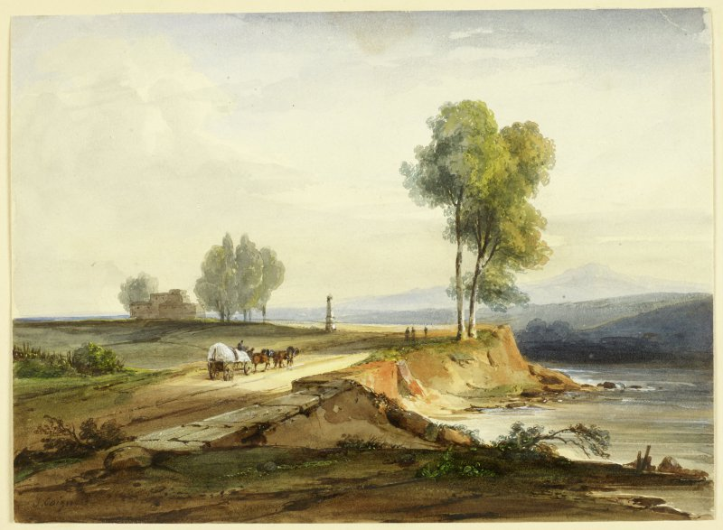 Italian Landscape with Wagon