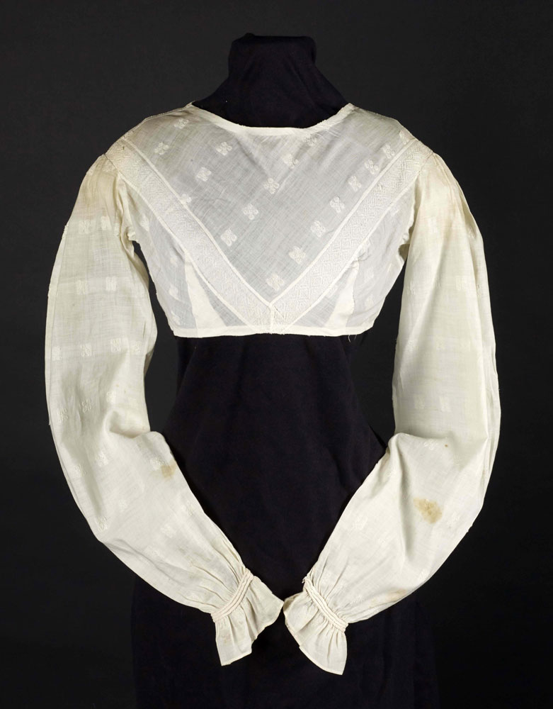 Cotton bodice, early 1800's