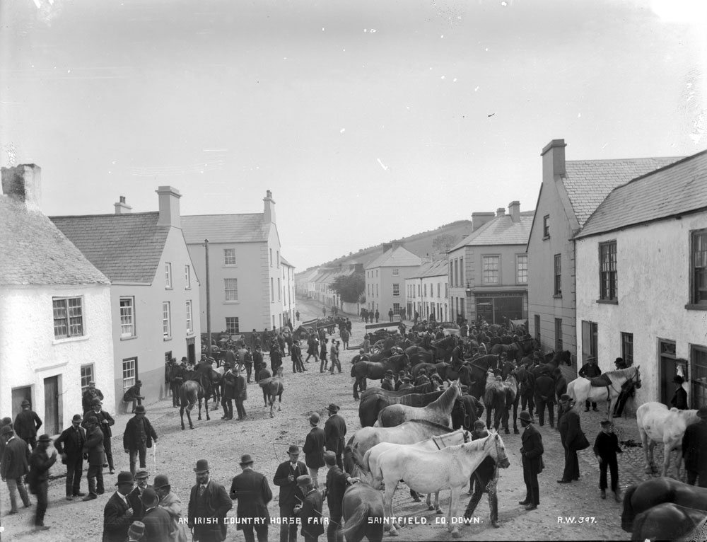 Irish Country Horse Fair, Saintfield, County Down. BELUM.Y.W.05.86.1 © National Museums Northern Ireland