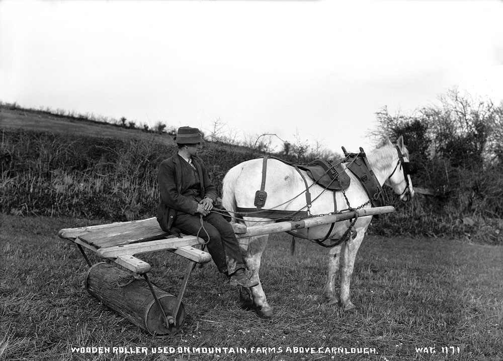 Wooden roller used on mountain farms above Carnlough, County Antrim. HOYFM.WAG.1171 © National Museums Northern Ireland
