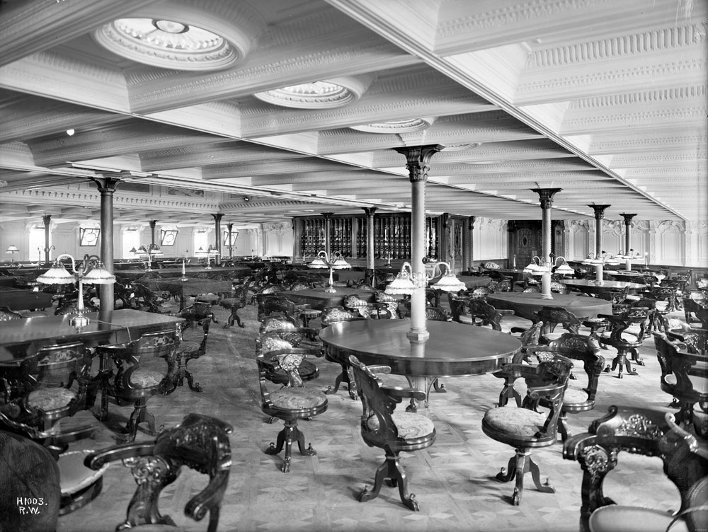 Adriatic – First Class dining saloon, Harland and Wolff Collection © National Museums Northern Ireland