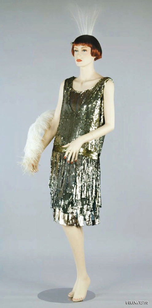 Sequinned evening dress, c.1925 by the fashion house of Beer. BELUM.T2750 © National Museums Northern Ireland