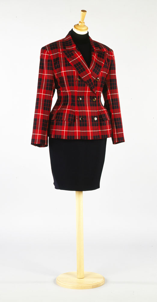 Red and black checked wool day jacket - purchased 1987 - designer Jean-Paul Gaultier. BELUM.T2920 © National Museums Northern Ireland
