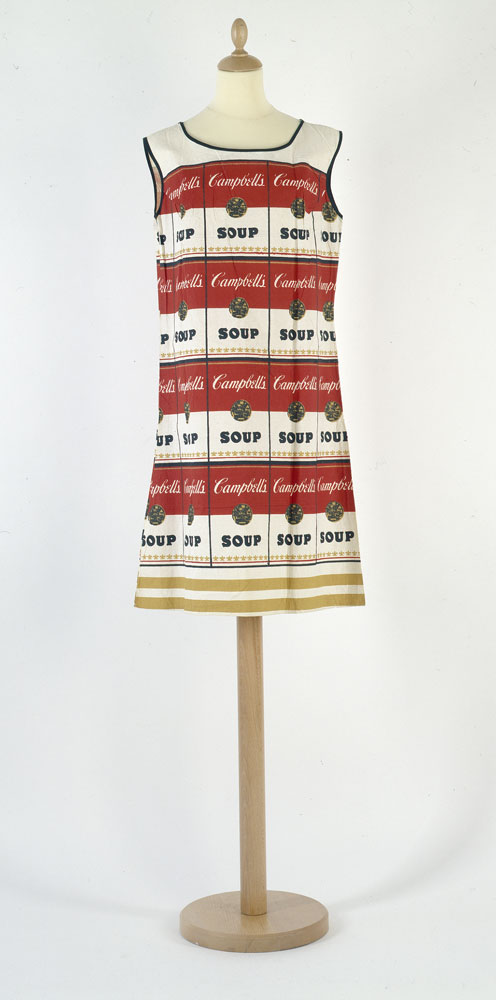 Paper dress printed with Andy Wahol's 'Campbell's Soup' design late 1960s. BELUM.T3668 © National Museums Northern Ireland