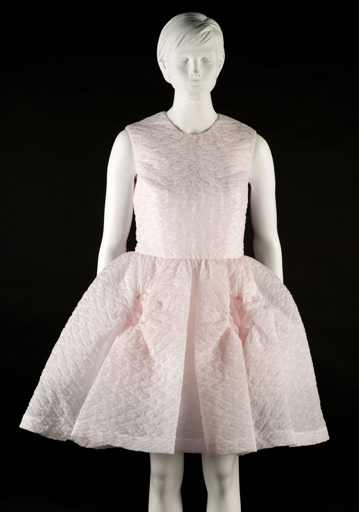 Pink cloque fabric dress purchased Simone Rocha. BELUM.T4520 © National Museums Northern Ireland