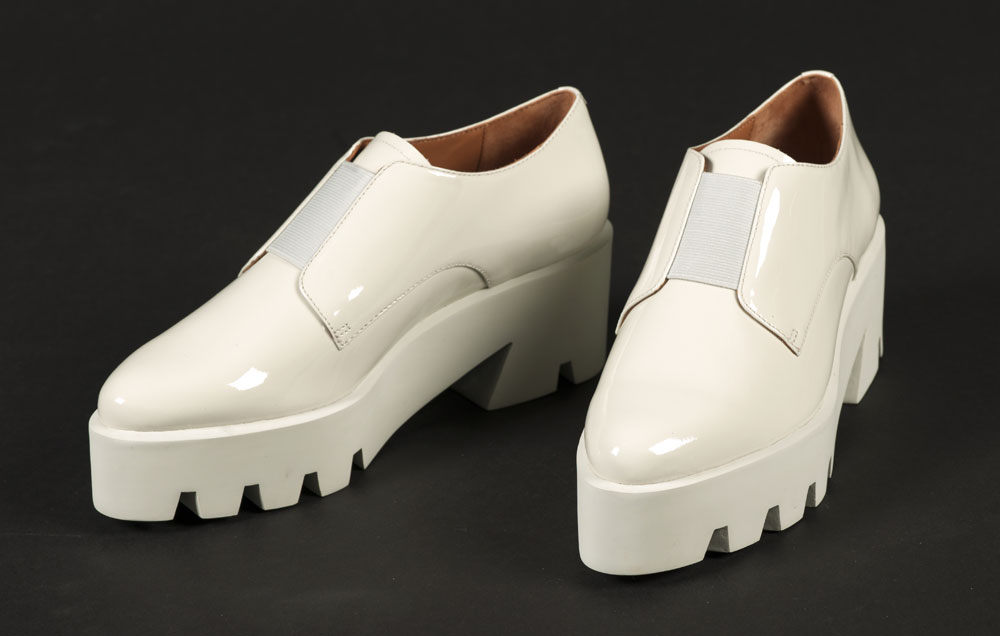 Cream leather flatforms - purchased & Other Stories. BELUM.T4523 © National Museums Northern Ireland