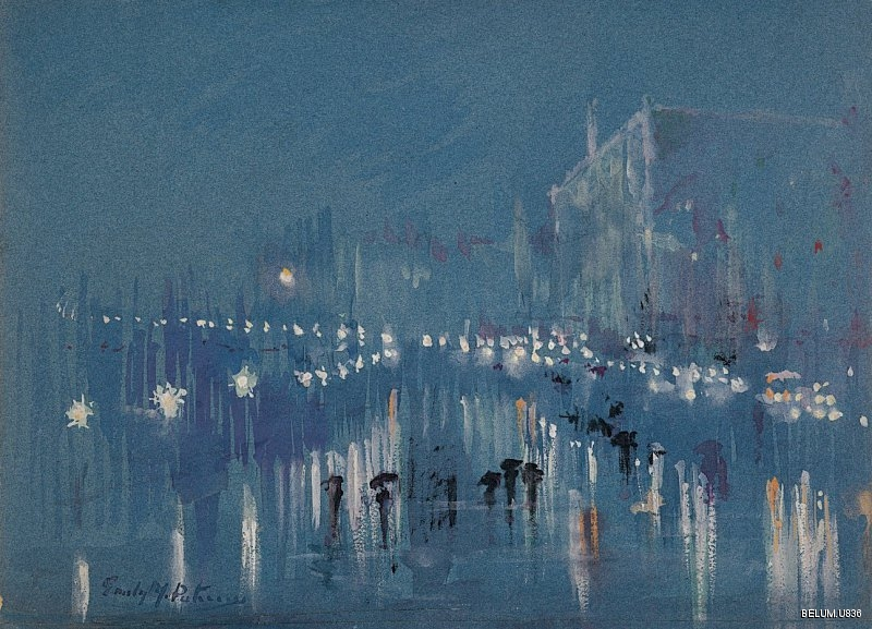 Emily Murray Paterson (1855-1934) Wet Evening on the Riva, Venice (between 1910 and 1930) Gouache on paper BELUM.U836