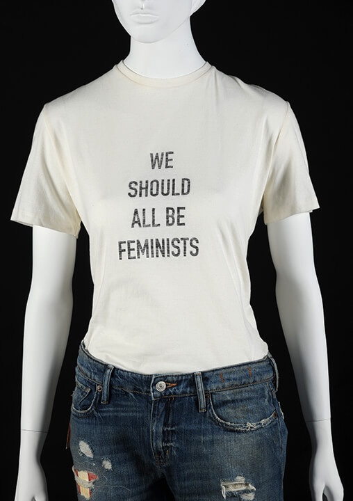 'We Should All Be Feminists' tshirt by Dior, 2017 (BELUM.T2017.42). © National Museums NI Ulster Museum Collection